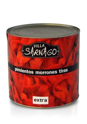 EXTRA Sliced red peppers 3KG VILLA SARANGO