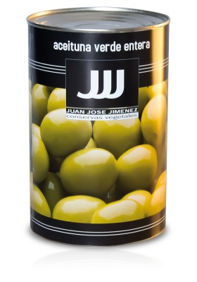 WHOLE GREEN OLIVE 280/320  5KG
