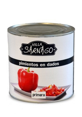 Diced red peppers 3KG